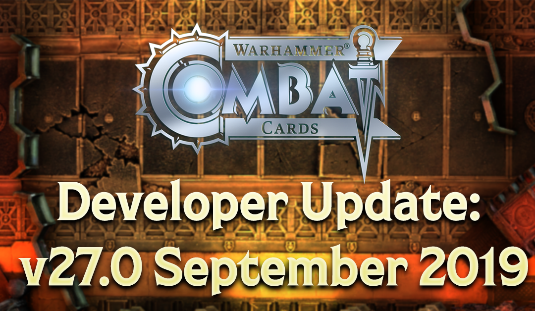 Developer Update: v27.0