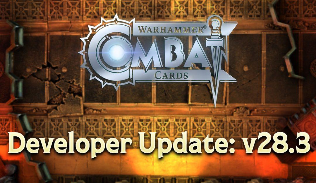Developer Update: v28.3