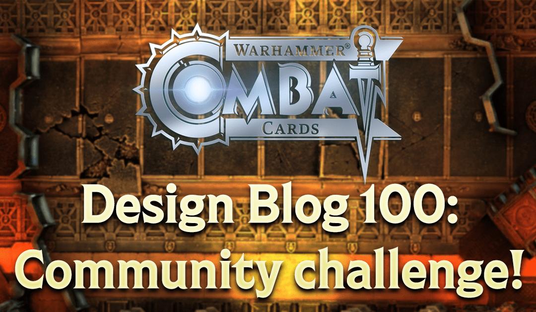 Design Blog 100: Community challenge!