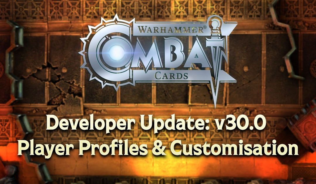 Developer Update: v30.0 – Player Profiles & Customisation