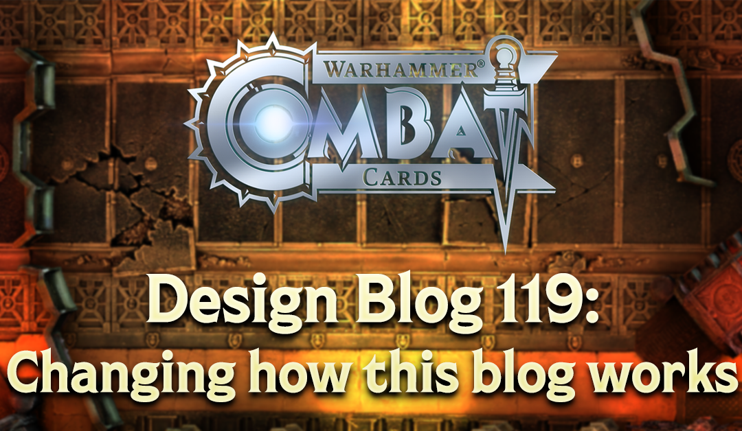 Design Blog 119: Changing how this blog works