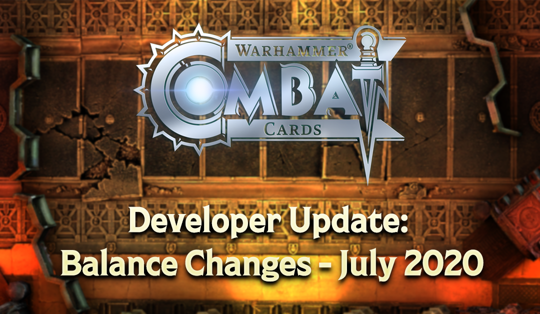 Developer Update: Balance Changes – July 2020