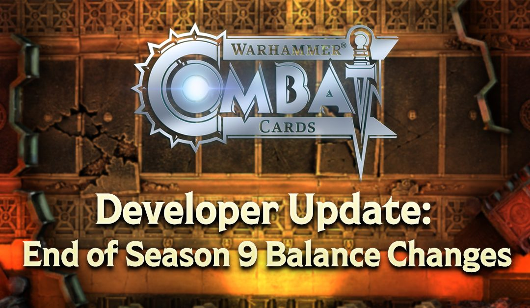 Developer Update: End of Season 9 Balance Changes