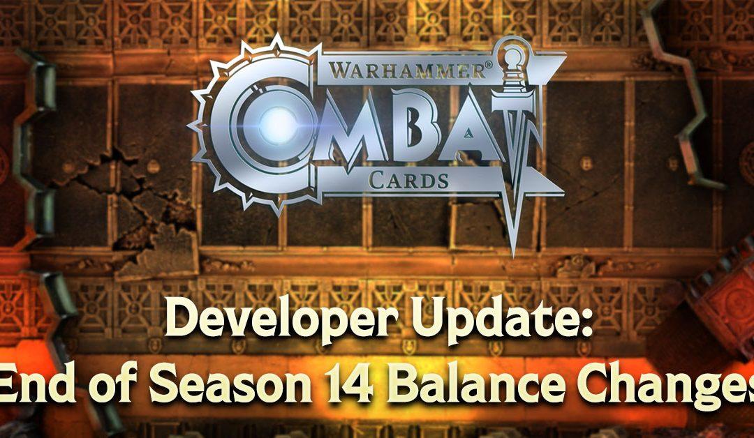 Developer Update: End of Season 14 Balance Changes