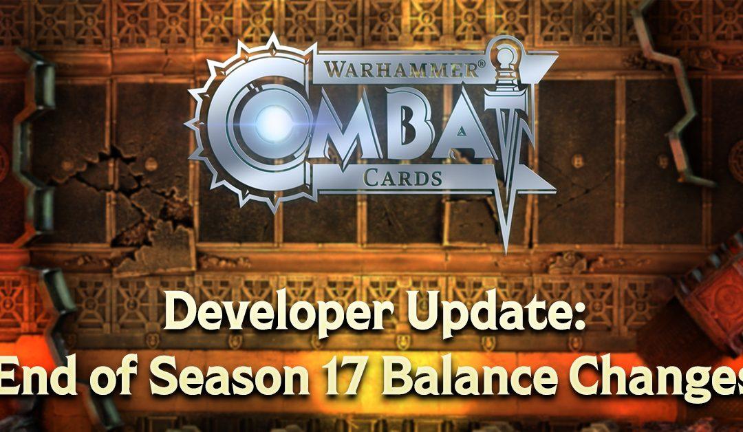Developer Update: End of Season 17 Balance Changes