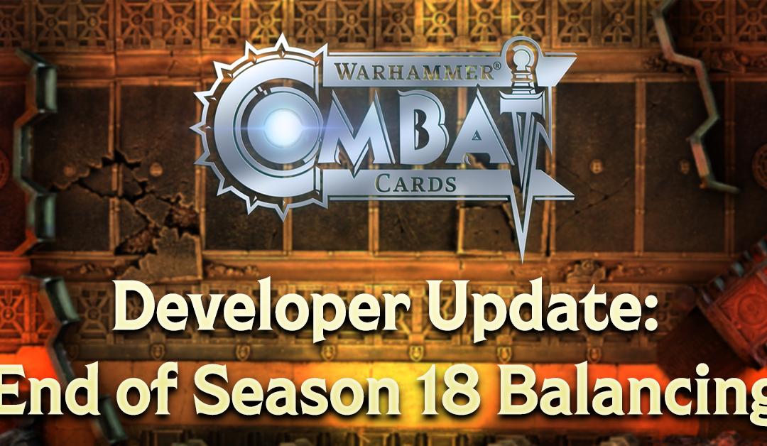 Developer Update: End of Season 18 Balance Changes
